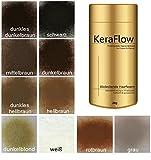 KeraFlow Streuhaar, Schütthaar zur Haarverdichtung. Haaransatz kaschieren bei lichten Haaren oder...