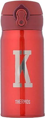 [THERMOS サーモス] イニシャル 名入れ 水筒 マグボトル スリム ミニ 350ml 真空断熱 ケータイマグ ワンタッチ 直飲み 軽量 保温保冷 ステンレス アルファベット プレゼント ギフト 10393-109-248 [K]