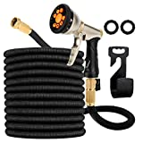 Garden Hose Expandable, Leakproof Lightweight, Retractable Collapsible Water Hose with 9 Function Zinc