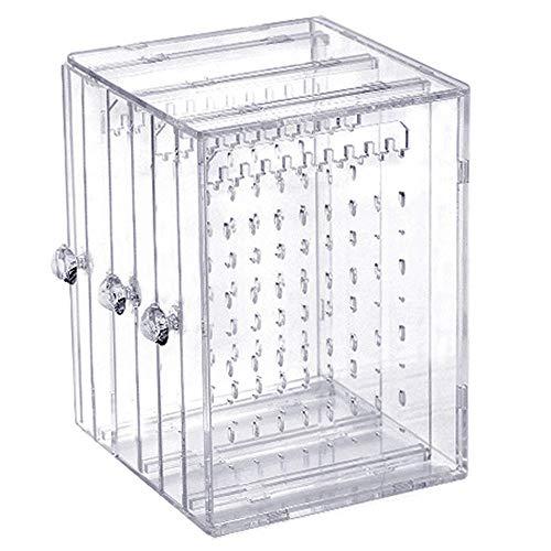 Ritte Porta Gioielli Organizer, Acrilico Orecchino Espositore Organiser Orecchino Bracciale Collana Trasparente Storage Case, Gioielli Rack Hanger Box, Orecchini Acrilico 3 Pannelli