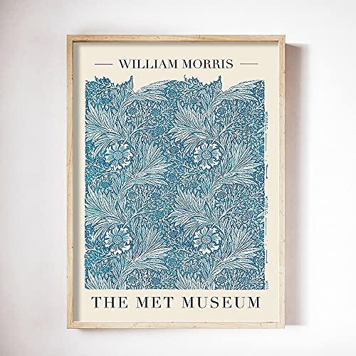 Carteles e impresiones de William Morris Exposición de tulipanes y caléndulas azules Pinturas de lienzo sin marco de la familia Art Nouveau B 50x70cm