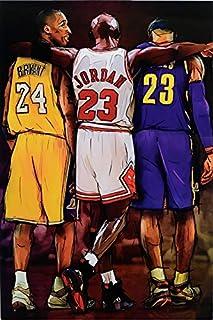 Michael Jordan Kobe and James Legends Fan Tribute Poster, Size 24×36