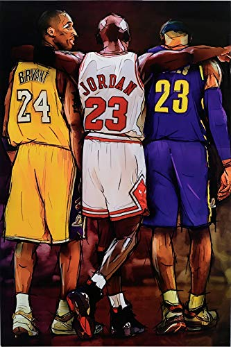 Michael Jordan Kobe and James Legends Fan Tribute Poster, Size 24x36