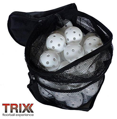 TRIX Floorball Team-Set - 50 Bälle weiß mit IFF Zertifizierung und Tasche