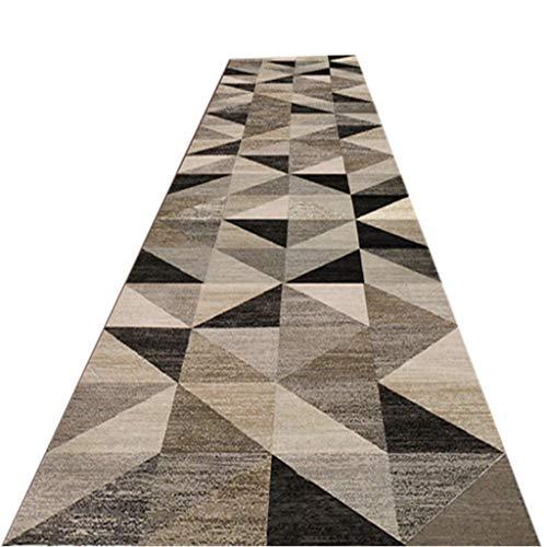 ZAQI Tappeto Corridoio Passatoia Tappeto Marrone per corridori, Largo 60/80/100/120/140 cm, Scale per Camera da Letto Ingresso Ingresso per Asilo Nido corridori per Hotel (Size : 80×400cm)
