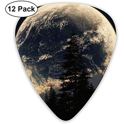 Moon In The Snow Mountain Gitaar Pick Set Gitaar Bass Mandoline Ukelele 0,46 mm 0,71 mm 0,96 mm 12 plectra gitaar standaard