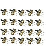 KKHMF 20個 SS12D00G5 スライド スイッチ トグルスイッチ SPDT 1P2T 2 位置 3 ピン シャフト 5 MM ピッチ 2.5 MM