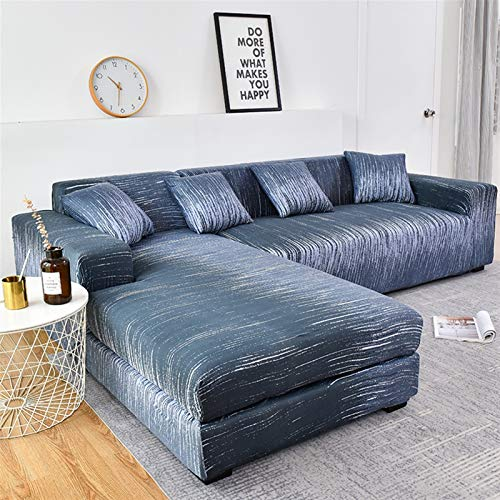 Funda de sofá duradera y fácil de limpiar, funda de sofá geométrica, funda de sofá elástica para sala de estar, mascotas, esquina, en forma de L, 1 unidad