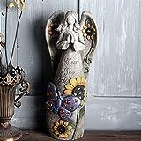 DECORACION FHW Escultura Figurine Art Impresión de la Estatua del ángel con el patrón de Mariposa Patio de jardín de Interior al Aire Libre para Interiores