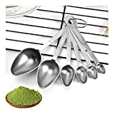 QingH yy Measuring Cup 6 Conjuntos de Piezas de medición de cucharas de Acero Inoxidable, Condimento Cuchara for cocinar Medidas Cucharas Kitchen Aid Pasta 0410