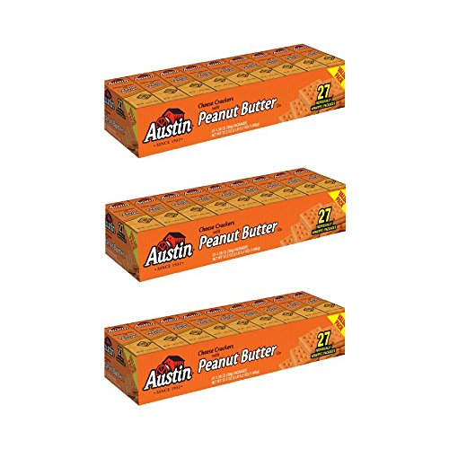 Austin Cheese Crackers with Peanut Butter, 1.38 oz, 27 count - Pack of 3