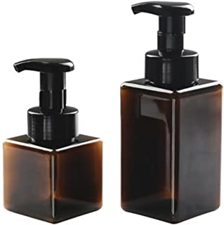Layboo Foaming Soap Dispensers Pump-Bottles for Kitchen, Bathroom Countertop and Vanities 250 ml(8.5 oz) +450 ml (15.1oz) ...