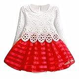 DAY8 Fille 2 à 7 Ans Vetement Robe Princesse mode Hiver Robe Soirée Fille Chic ete pas cher Robe Enfant Fille Fashion...