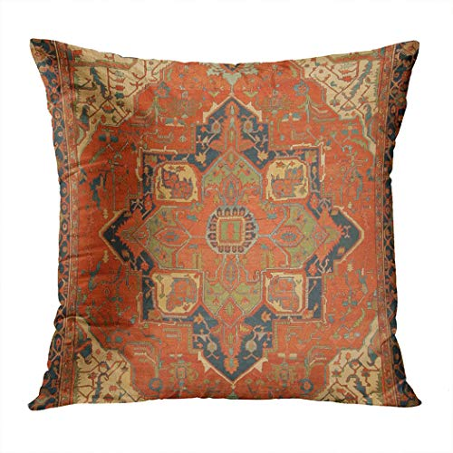 Suike Flying Carpet Ride Romantic Hidden Zipper Home Sofa Decorative Throw Pillow Cover Cushion Case Square 18x18 Inch Two Sides Design Printed Pillowcase