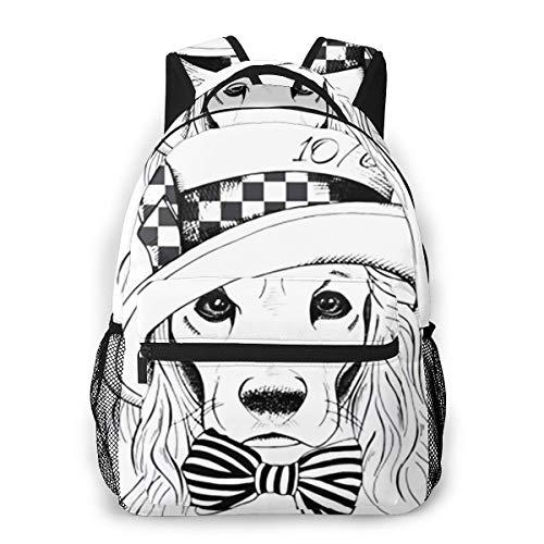 Laptop Rucksack Schulrucksack Hund Cocker Spaniel, 14 Zoll Reise Daypack Wasserdicht für Arbeit Business Schule Männer Frauen