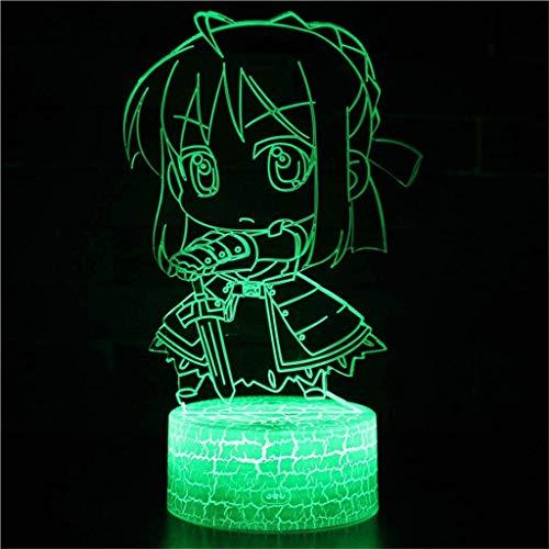 XWYXYD Noche proyector de luz 3D luz de la Noche/LED lámpara Ahorro de energía, 7 Colores, la lámpara de cabecera Mesa de Noche Infantil luz de la iluminación, la Escultura X6Y8D3