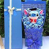 Thombi90 Store Stuffed Animal Drop Shipping Stitch Cartoon Flower Bouquet Plush Toy Kawaii Stitch Graduation Bouquets Plush Toy Valentine Birtdhay Gift No Box-No Box