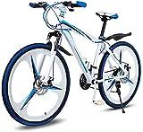 Bicicleta, Bicicleta de montaña Plegable, Bicicleta de Velocidad Variable de 26 Pulgadas de Hombres, Bicicleta de Doble amortiguamiento, Caja Fuerte y rápida el Mejor Transporte Ahora