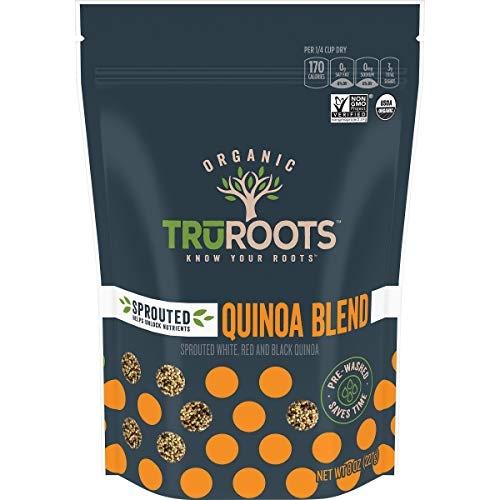 TruRoots Organic Sprouted Quinoa Blend, 8 Ounces, Certified USDA Organic, Non-GMO Project Verified