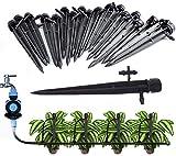 XUTONG 50 pezzi regolabili flusso di irrigazione gocciolatori con connettore per tubo 4mm/...