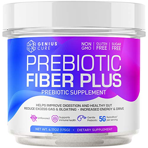 Prebiotic Fiber Plus Powder, Support Digestive Health & Regularity, Gut Food for Good Bacteria, Ease Gas, Smart Prebiotic Powder Supplement, Gluten & Sugar-Free, Keto, Vegan 6.17Fl Oz