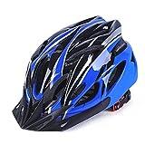 GCDN - Casco de bicicleta con visera, ajustable, ligero, para bicicleta de montaña, de carretera para adultos, jóvenes y niños, Unisex adulto, color Azul y negro., tamaño Tamaño libre