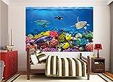 GREAT ART XXL Poster Aquarium Meerestiere | farbenfrohe Unterwasserwelt Meeresbewohner Ozean Fische Riff Delphin Schildkröte Korallenriff | Wandbild Fotoposter Wanddeko Fototapete | 140 x 100 cm - 9