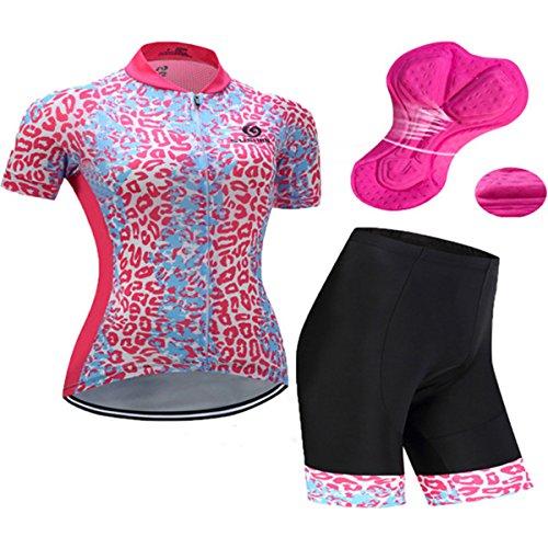 X-Labor Maillot de ciclismo para mujer, camiseta de manga corta y pantalón...