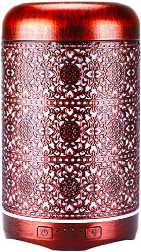 Aroma Diffuser, 260ml Metall Aromatherapie Diffusor für ätherische Öle, Raumbefeuchter Elektrisch Duftlampe, 7 Farbe Licht Vintage Diffusor für Zuhause Büro Oder Yoga