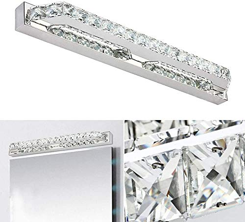 LOKKRG Espejo de baño, Luces de tocador de Cristal, Luces de tocador para iluminación de tocador, Aplique de Pared, lámpara de luz de Pared, luz cálida/luz Blanca, WarmLight-100cm