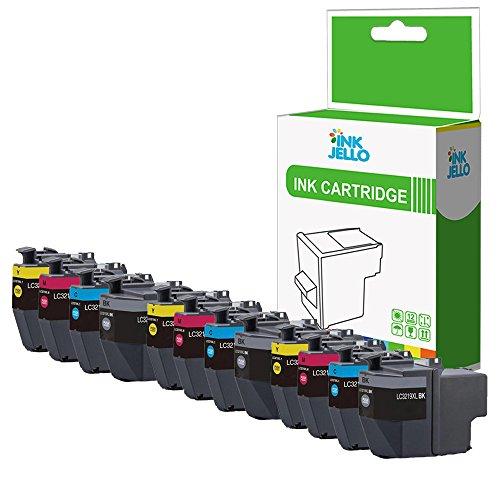 InkJello - Cartucho de Tinta Compatible para Impresora Brother MFC-J5930DW MFC-J5730DW MFC-J6935DW MFC-J6930DW LC3219XL (Negro, Cian, Magenta, Amarillo, 12 Unidades)
