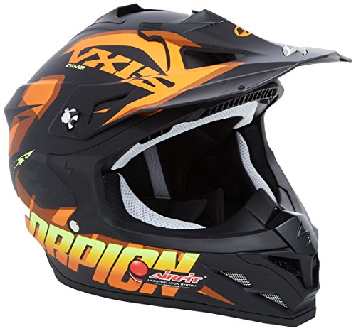 Scorpion Casco moto VX-15 EVO AIR DEFENDER Opaco Nero-Arancia XS