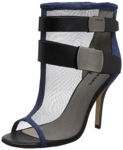 DIESEL Bottines Dames Jeans Talons Aiguilles « Roller » Femme (EUR 41, Bleu/Noir)