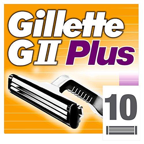 Auslaufmodell Gillette GII Plus Klingen, 10 Stück