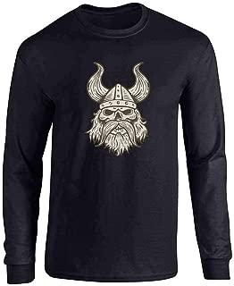 skull in viking helmet