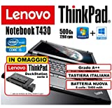 Portátil Ultrabook Lenovo ThinkPad T440 – Intel Core i5-4300U – RAM 8 GB – SSD 240 GB – 14 pulgadas HD+ 1600 x 900 – Grado A (reacondicionado) - T430 4Gb HDD500+Dock