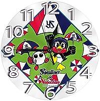 フレームなしの円形の壁時計東京ヤクルトスワローズミュート掛け時計屋内壁の装飾デスクトップジュエリークリエイティブクロック直径25cm 新しい
