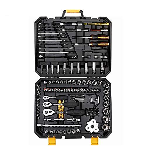 WENHU 140 Stücke Professionelle Auto Repair Tool Set Auto Ratschenschlüssel Mechanische Schraubendreher Tools Kit W/Blasform Box