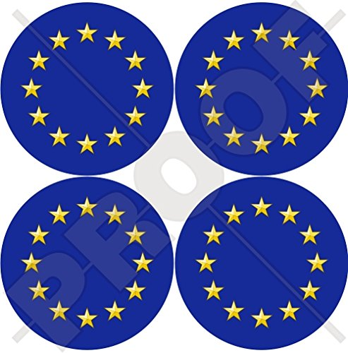 Europa Europäische Union Flagge Roundels EU 50mm (5,1cm) Vinyl bumper-helmet Aufkleber X4