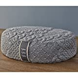 Brentwood Home Crystal Cove Meditation Cushion, Buckwheat Zafu Oval...