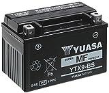 MIM Distribution Batteria YUASA YTX9-BS 12 V 8 AH per Triumph Street Triple R 675 2008/2015 per Triumph-Street Triple 675 R dal 2008 Fino al 2015