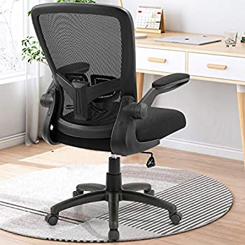 Office Chair Clearance Ergonomic Desk Chair with Adjustable Height Lumbar Support High Back Mesh Computer Chair with Flip up Armrests Task Chairs for Home Office - 300lb Executive Chair