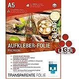 SKULLPAPER Klebefolie transparent zum aufkleben und selbst gestalten - für Laserdrucker (A5-20 Blatt)