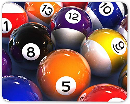 Funky Pool Balls Mouse Mat Pad - Lucky 8 Ball Snooker Pub Gift Computer #13156