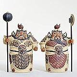 Living Equipment Fengshui Figurines Adornos de cerámica para protegerse de Evil Fortune Inicio Sala de estar Porche Decoraciones de Feng Shui Estilo chino Escultura de prosperidad Decoración del ho
