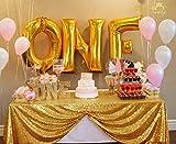 Paillettes Tovaglia 50'*72' Shinny Oro Matrimonio tovaglia Paillettes Shinny Gold Paillettes Sfondo Tenda C0423, Tovaglia Natalizia, Oro, 50x72-Inch
