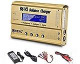 RUIZHI Cargador de batería LiPo 1S-6S Balance Discharger Cargador de batería Digital para NiMH/NiCD/Li-Fe Packs con Conectores Tamiya/JST / EC3 / Hitec/Deans