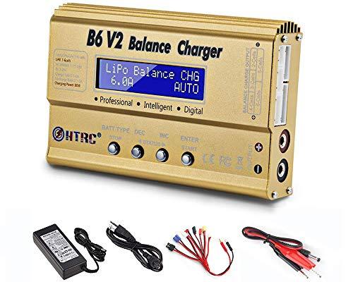 ZHITING LiPo-Akkuladegerät 1S-6S Balance Discharger Digitales Akkuladegerät für NiMH- / NiCD- / Li-Fe-Akkus mit LCD-Display Hobby-Akkuladegeräte mit Tamiya- / JST- / EC3- / Hitec- / Deans-Anschlüssen