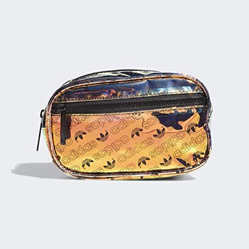 adidas Originals Originals Iridescent Waist Pack, Radiant Metallic Forum Monogram Small/Black, One Size