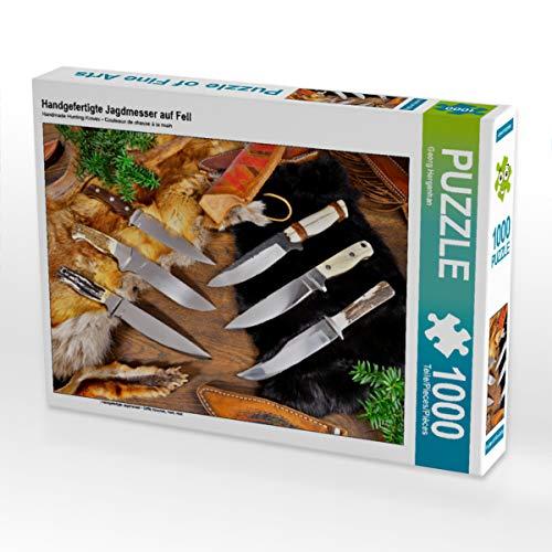 CALVENDO Puzzle Handgefertigte Jagdmesser auf Fell 1000 Teile Lege-Größe 64 x 48 cm Foto-Puzzle Bild von Georg Hergenhan